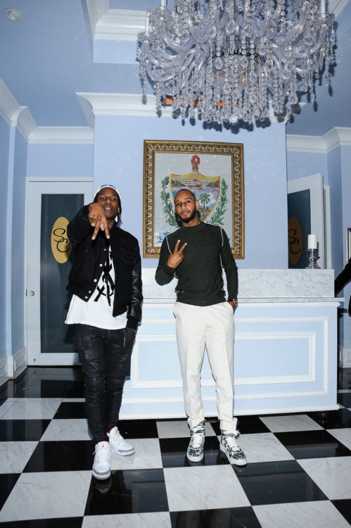 asapcamp:  Swizz Beatz and ASAP Rocky Pose in NYC