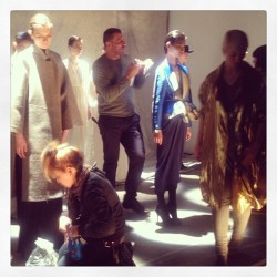 Putting on final touches @TOMENYC presentation. BA #nyfw
