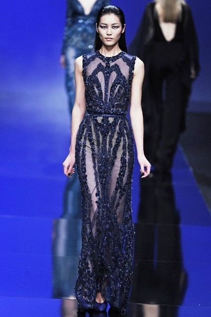 Designer Elie Saab really knows how to deliver a show and his Fall 2013 collection in Paris was no exception with designs made for a movie star.  Shutting it down!
