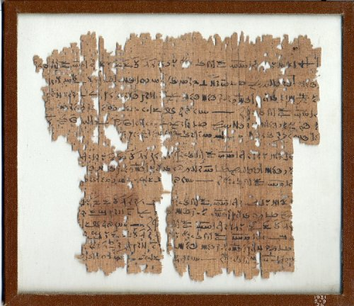 Demotic Administrative Papyrus for drawing up a Marriage agreement 4th Century BC Late Period (?)/ Graeco-Roman (?) (Source: The British Museum)