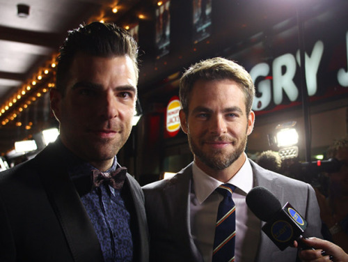 vh1:  The most bromantic moments between Zachary Quinto and Chris Pine. Reblog and add your own favorite phtoos, gifs, etc.