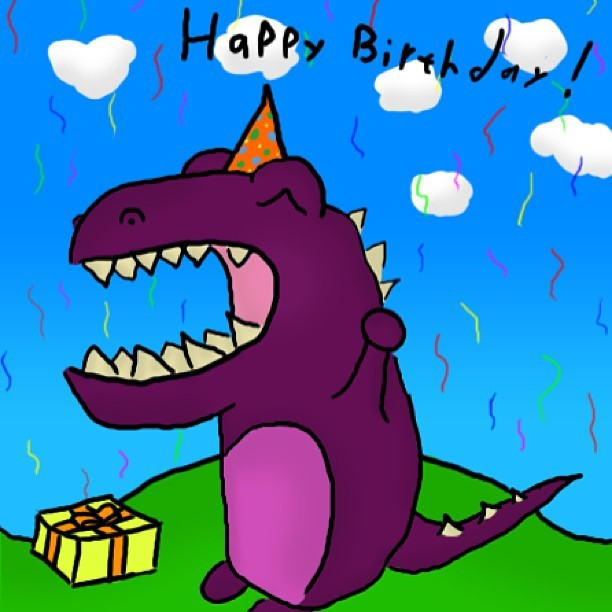 My friend Jesse is an arteest #birthdayTrex