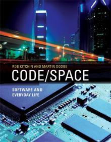 "Code/Space: Software and Everyday Life by Rob Kitchin and Martin Dodge I love love love Rob Kitchin's and Martin Dodge's work so much and am so excited they have a whole book on code/space! I remember the first time I read Flying through code/space: the real virtuality of air travel in 2005  - I haven't been able to see the world in the same way since then. Rob and Martin are show how good theory is embedded in the everyday - it doesn't have to elitist and removed.   ""After little more than half a century since its initial development, computer code is extensively and intimately woven into the fabric of our everyday lives. From the digital alarm clock that wakes us to the air traffic control system that guides our plane in for a landing, software is shaping our world: it creates new ways of undertaking tasks, speeds up and automates existing practices, transforms social and economic relations, and offers new forms of cultural activity, personal empowerment, and modes of play. In Code/Space, Rob Kitchin and Martin Dodge examine software from a spatial perspective, analyzing the dyadic relationship of software and space. The production of space, they argue, is increasingly dependent on code, and code is written to produce space. Examples of code/space include airport check-in areas, networked offices, and cafés that are transformed into workspaces by laptops and wireless access. Kitchin and Dodge argue that software, through its ability to do work in the world, transduces space. Then Kitchin and Dodge develop a set of conceptual tools for identifying and understanding the interrelationship of software, space, and everyday life, and illustrate their arguments with rich empirical material. And, finally, they issue a manifesto, calling for critical scholarship into the production and workings of code rather than simply the technologies it enables—a new kind of social science focused on explaining the social, economic, and spatial contours of software.""             About the Authors  Rob Kitchin is Professor of Human Geography and Director of the National Institute of Regional and Spatial Analysis at the National University of Maynooth, Ireland.     Martin Dodge is Senior Lecturer in Human Geography at the University of Manchester's School of Environment and Development. (via Code/Space 