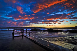 Sunset North Curl Curl rock pool by Wai Cheong Chan on Flickr.