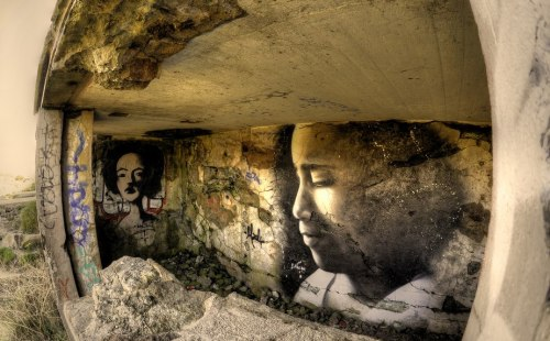 spreadingthebeautiful:  • ARTIST . LILIWENN • ◦ Bunker Face ◦ location: Brittany, France