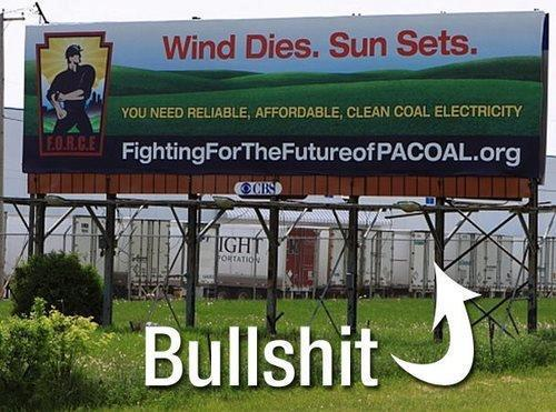 """""""PACOAL probably never heard of batteries before - you know, where wind and solar energy is stored for times when wind or solar is lacking."""""""