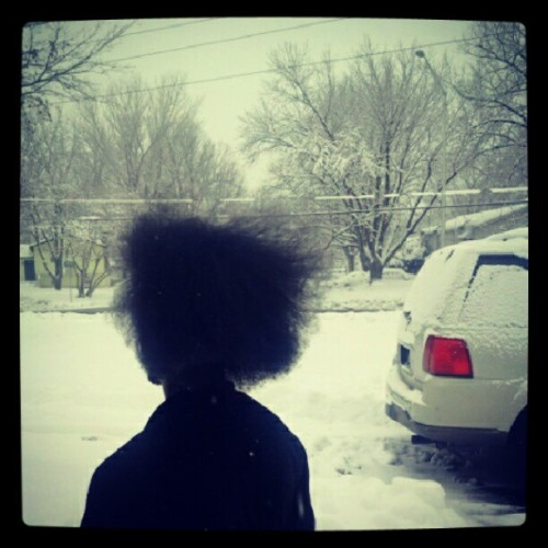 Short nigga with his hair wild, to damn proud #adams #winter #snowstorm #marilyn #stateofemergency #pictureoftheday