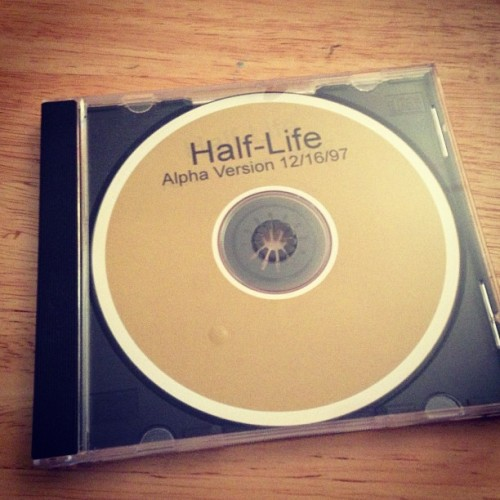 Was going through some old CD-ROMs and found this gem. Half-Life alpha from 1997!