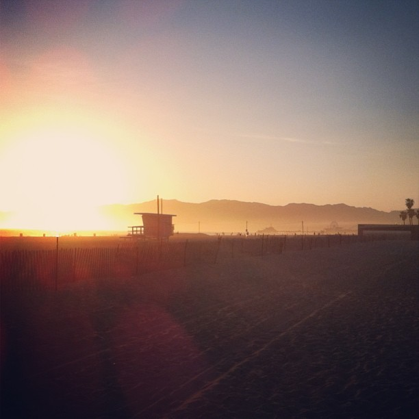 Sunset in Santa Monica. (at South Santa Monica Beach)