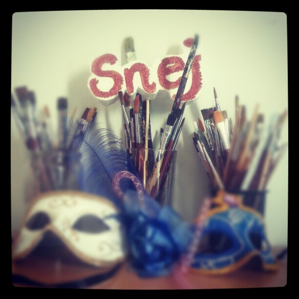#me #paintbrushes #mask #art #painting #drawing #artist
