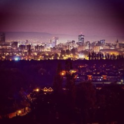 Manchester at night. #manchester #city #streetlights #night #skyline #cityscape #awesome #view