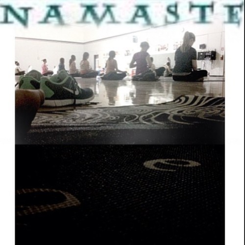The #best part of #my #day #yoga #class #Qi #breathe #slowdown #relax #meditate #positive #energy #inner #peace #good #vibes #centered #healthy #homies #united #one #breath #one #movement #namaste 😊
