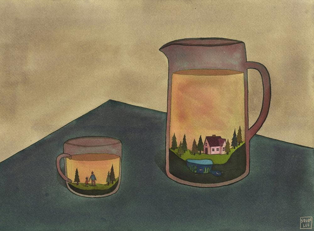 Steeped memories by Soeun Lee   watercolor http://soeunlee.com