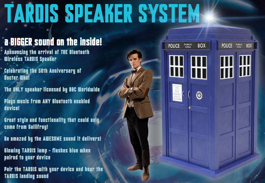 doctorwho:  The Shut Up And Take My Money Doctor Who Link Of The Day: TARDIS Speaker System with subwoofer From the description:  The TARDIS Speaker is the only TARDIS speaker in the World, not even on Gallifrey do they have one! And It will be materialising near you very soon. Awesome sound that you would expect from the Doctor. Magical features to give you the enjoyment of owning the only TARDIS speaker ever to be made. With Bluetooth connectivity you can pair any smartphone or Tablet to this beautifully detailed manufactured speaker With built in digital speakers and subwoofer it is definitely bigger on the inside! A quality of sound you could only expect from a highly technical Time Lord.   Note: we're fairly certain that the TARDIS in the image above is not to size. Price: £150.00 inc VAT  Waaaaaaaaaaaaaaaaaaaaaaaaaaaaaaaaaaaaaaaaaaaaaaaaaaaaaaaaaaaaaaaaaaaaaaaaaaaaaaaaaaaaaaaaaaaaaaaaaaaaaaaaaaaaaaaaaaaaaaaaaaaaaaaaaaaaaaaaaaaaaaaaaaaaaaaaaaaannnnnnnnnnttt