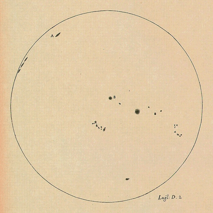 Galileo's Sunspot Drawings. (speciesbarocus)