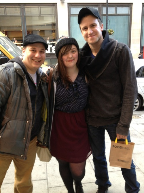 With Jared and Gavin earlier!!!!! Aaaaahhhhhhh I'm SO happy!!!!!