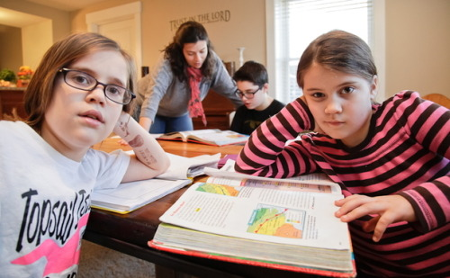 "Evangelical Homeschoolers Embrace Evolution  The Atlantic Magazine | By David R. Wheeler | March 8, 2013For homeschooling parents who want to teach their children that the earth is only a few thousand years old, the theory of evolution is a lie, and dinosaurs coexisted with humans, there is no shortage of materials. Kids can start with the Answers in Genesis curriculum, which features books such as Dinosaurs of Eden, written by Creation Museum founder Ken Ham. As the publisher's description states, ""This exciting book for the entire family uses the Bible as a 'time machine' to journey through the events of the past and future.""It's no secret that the majority of homeschooled children in America belong to evangelical Christian families. What's less known is that a growing number of their parents are dismayed by these textbooks.Take Erinn Cameron Warton, an evangelical Christian who homeschools her children. Warton, a scientist, says she was horrified when she opened a homeschool science textbook and found a picture of Adam and Eve putting a saddle on a dinosaur. ""I nearly choked,"" says the mother of three. ""When researching homeschooling curricula, I found that the majority of Christian homeschool textbooks are written from this ridiculous perspective. Once I saw this, I vowed never to use them.""  Full Article"
