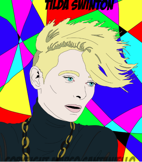 new pop portrait ! #TILDASWINTON by @SUPERSTARMIX #marcosantaniello