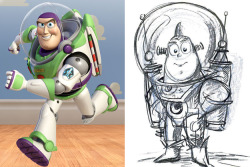 walmartvevo:  Buzz Lightyear - Concept Art  This is actually cute as hell