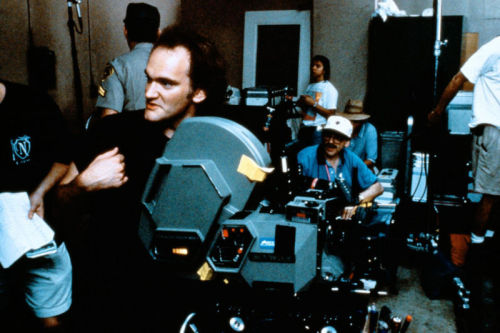 behindtheillusions:  Director Quentin Tarantino on the set of Jackie Brown (1997).