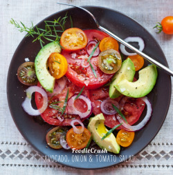 in-my-mouth:  Avocado Tomato Salad