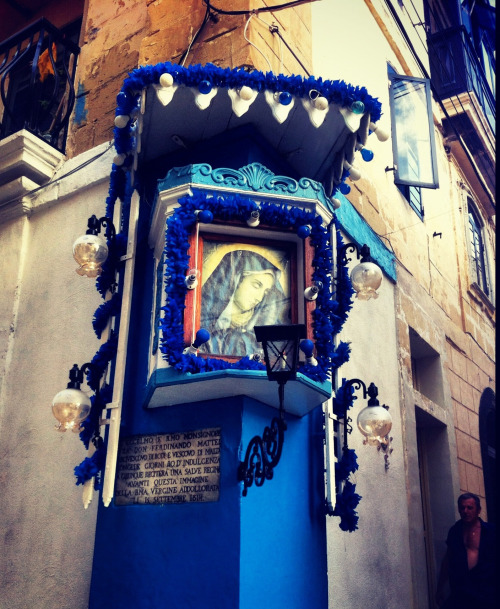 A street shrine for Our Lady of Dolours in Senglea, Malta.
