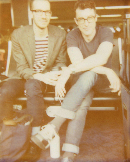 "Mark with his boyfriend, John. LaGuardia Airport // Queens, NY. ""I have always been a storm."" Photo by Amber Mahoney."
