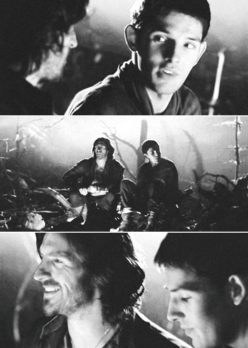 Merlin & Gwaine campfire scene | requested by anon