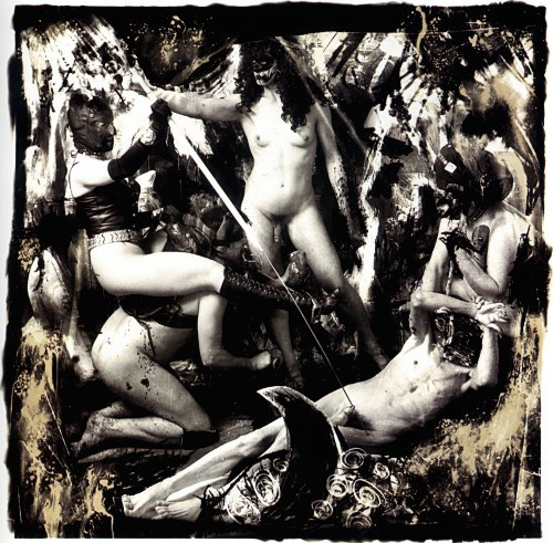 cavetocanvas:  Joel-Peter Witkin, Apollonia and Dominetrix Creating Pain in the Art of the West, NYC, 1988