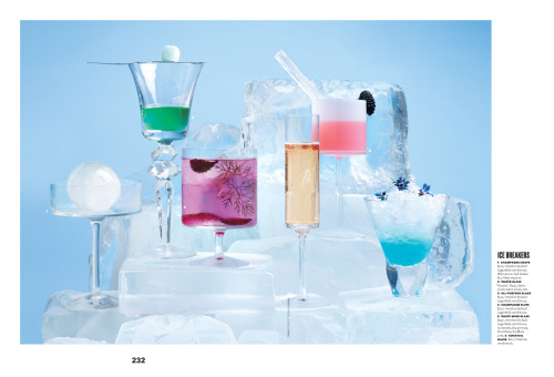 Icy Drinks I styled for Brides December issue. Fun fun fun!