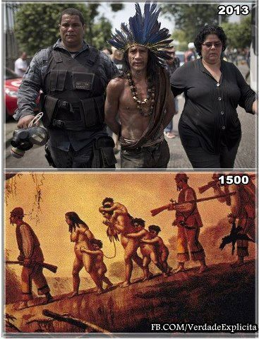 Brazil, then and now. Solidarity with all indigenous peoples!