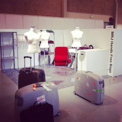 Arrived at #CIFF! Time to set up the #booth number C4-010 for the #Fashion #Exhibition happening tomorrow! #copenhagen #copenhagenfashionweek #copenhageninternationalfashionfair #denmark #style #dk #mrj #handsfreebags #hfbags #mrjhfbags #mrjhandsfreebags