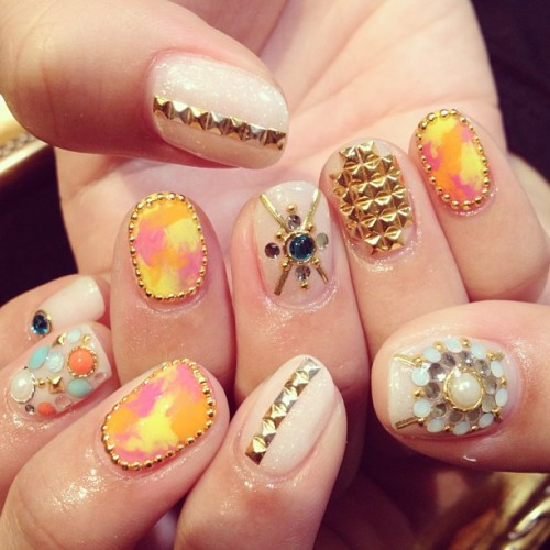 ruscia:  ゴージャス~☆ #nail #nails #nailart #cool (RUSCIA)