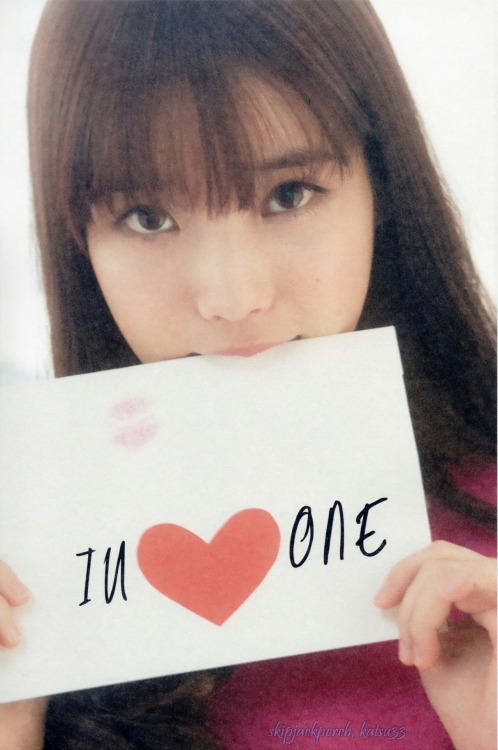 katsu33:  [SCAN] IU LOVE ONE ; Photo Book, Cover