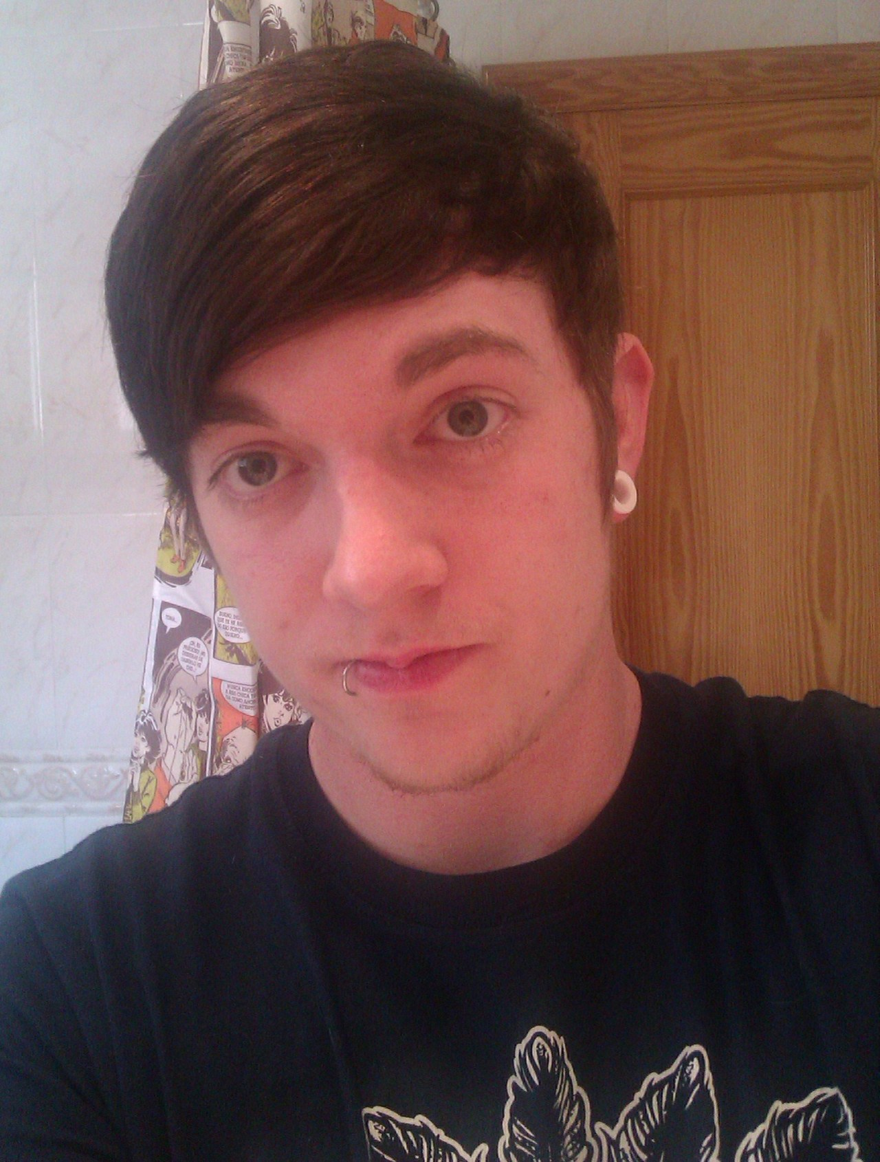 Not sure if I like this photo but had a haircut.