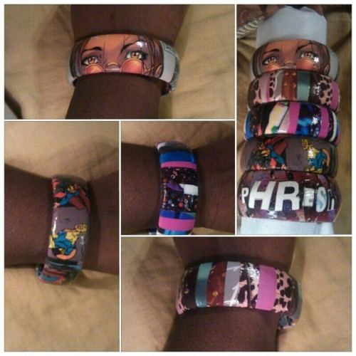 Eco-Friendly Custom bangles! GET YOURS NOW.    I do custom request orders! NAMES, PHRASES, COLORS, THEMES, ETC *prices vary for custom orders*  #fashion #DefiInk #jewelry #ecofriendly #BAWSE #Recycle #Reuse