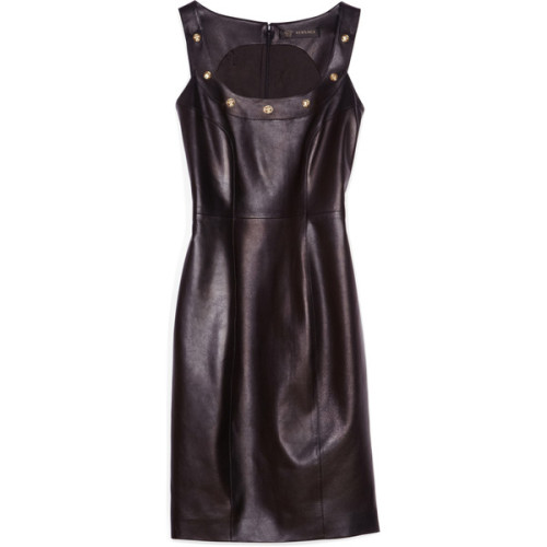 Versace dress   ❤ liked on Polyvore (see more studded dresses)
