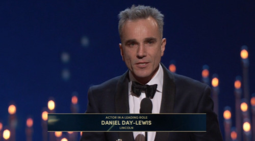 And Daniel Day Lewis wins best actor for Lincoln.