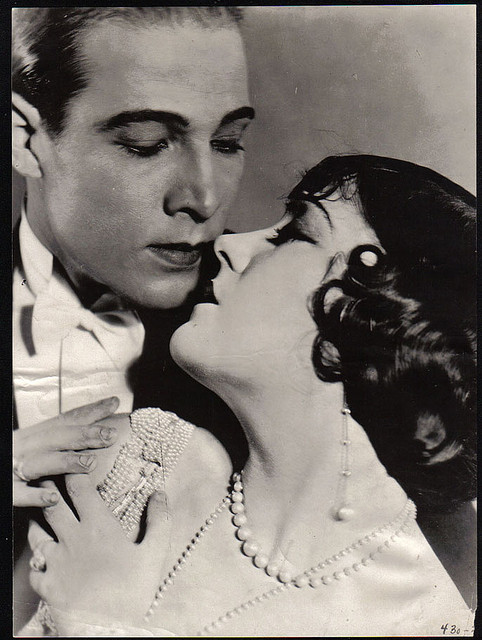 alabaster1:  Rudolph Valentino and Gloria Swanson portrait.
