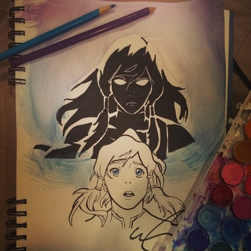 korra watercolor art legend of korra light in the dark avatar state avatar the last airbender