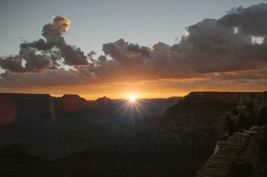 Sunrise over the Grand Canyon.