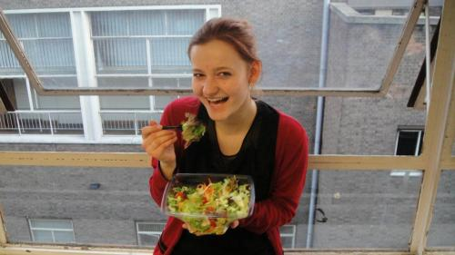 That is me laughing alone with salad, obviously. Greetings to all my friends that made it happen :)
