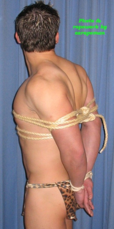 Tarzan tied up by me #male bondage