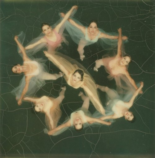 Edwin Land - Dancers photographed from above with a Polaroid SX-70 camera, 1972.