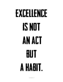 Excellence in not an act but a habit