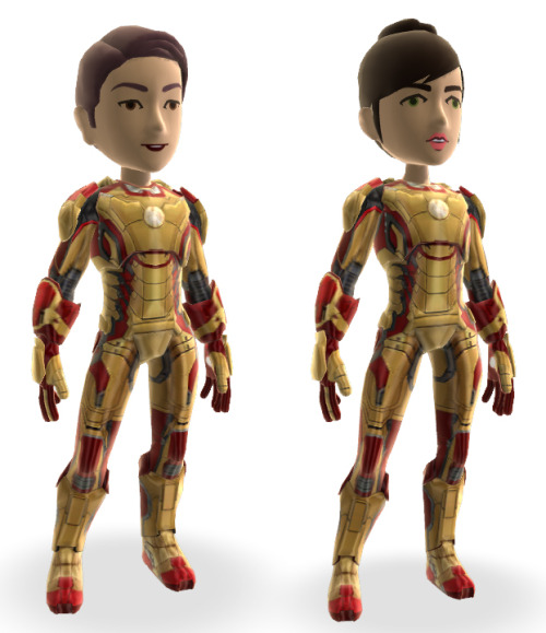 We have Marvel's Iron Man 3 Xbox items and I have some codes for the avatar Iron Man Mark XLII Suit—both male and female versions. Ain't gonna neglect tumblr! These are first come, first served, you can redeem on Xbox Live or on Xbox.com in the redeem codes area.  And to see all the Iron Man 3 Xbox items, go here. Iron Man Mark XLII Suit - female G9M67-C94KV-HGJXR-RK2C2-W2Q3Z D7HR4-WHPY2-VF2WQ-K9TRP-DHCMZ WV76P-RF7QM-TDKHM-7X6MC-2DC7Z 4VJR4-TQVPM-3YWM4-TWXM4-RVYRZ VJCTY-WGD99-774PD-7CWM4-DP4MZ  Iron Man Mark XLII Suit - male 9V7JK-4WQ2F-X492K-V3DFX-P7CXZ H3MRM-HGJY7-VMTV4-3TFGX-CH4KZ 7XGTF-J2CHC-JCT39-64RW6-7VQQZ GXX94-QPYDC-6K632-3XYCQ-M6TDZ JYK9Y-QG7YM-KJVFQ-DW9TV-WRJKZ