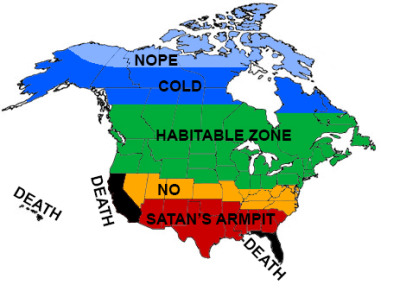 dragon-in-a-fez:  a 100% accurate map of north america as drawn by a canadian