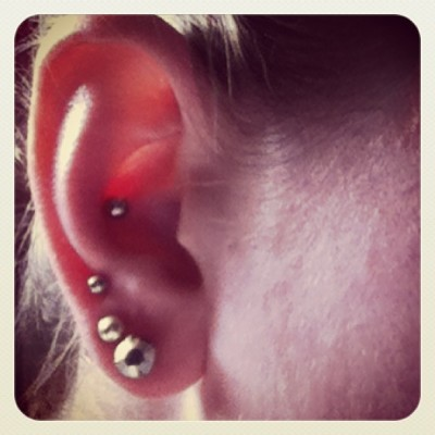 finalllllllly:) #newpiercing #conch #itsabouttime #thanksshalene :)