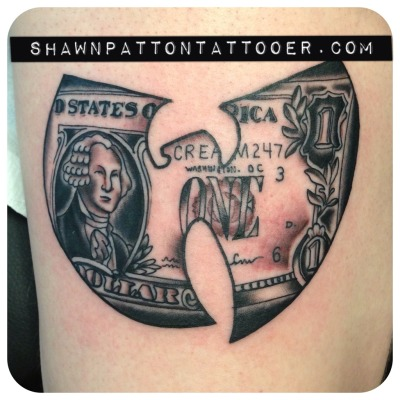 Wu-Tang forever! Done by Shawn Patton. Tried and True Cleveland, OH www.shawnpattontattooer.com - Instagram @shawnpattontattooer