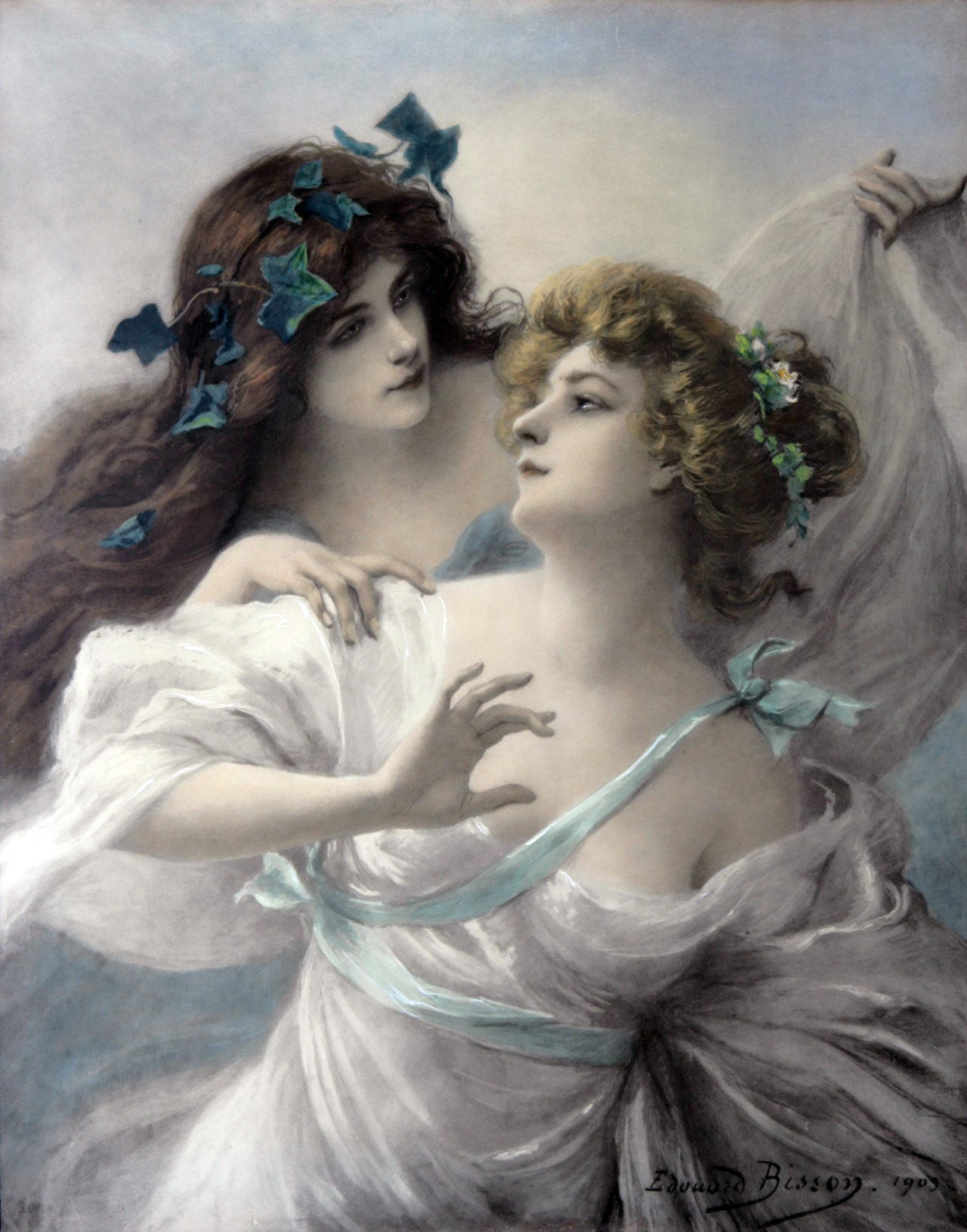 fleurdulys:  Two Maidens - Edouard Bisson 1903